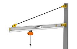 Aluminum Tie Rod Jib Cranes