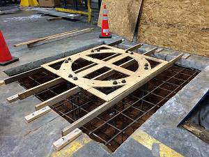 jib crane foundation installation